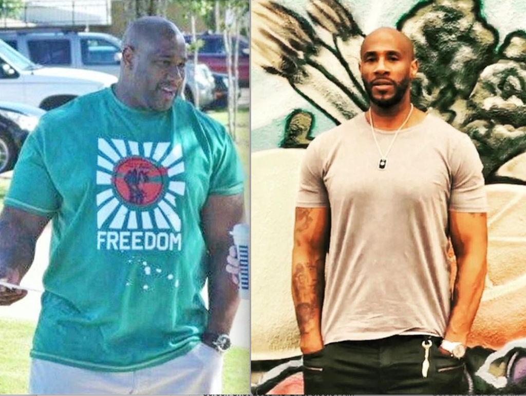Marlon Rison Before And After Plant-Based Diet